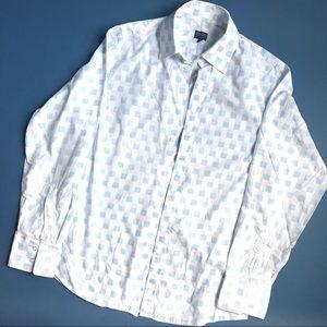 KENZO Homme Blue/White Dress Shirt